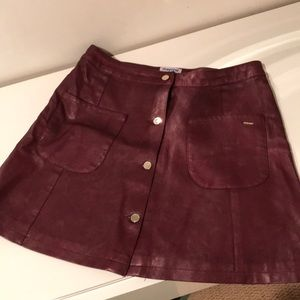 Mayoral burgundy faux leather skirt